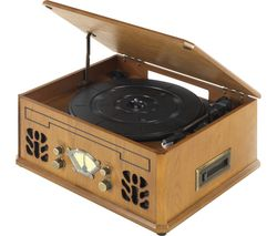 ITEK I60011 Turntable - Brown