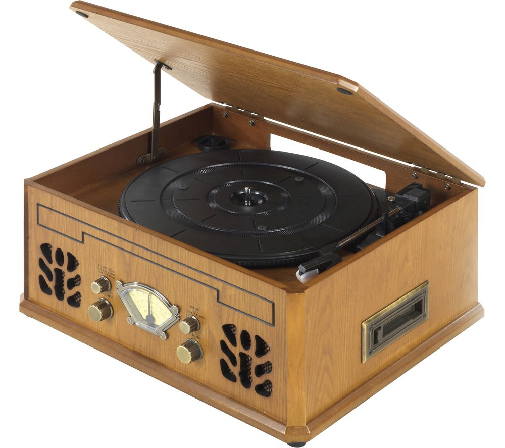 ITEK I60011 Turntable - Brown, Brown