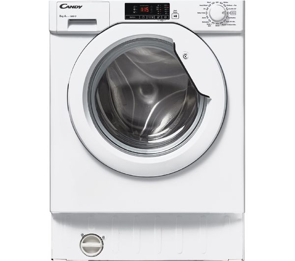 Image of CANDY CBWM816D-80 Integrated 1600 Spin Washing Machine - White