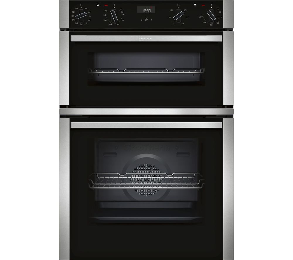 Buy Neff U1aci5hn0b Electric Double Oven Stainless Steel