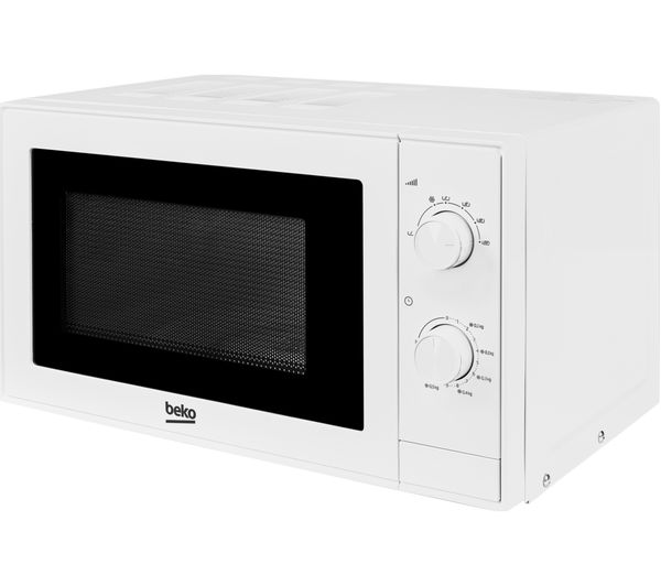 An Image Of Beko Moc20100w Compact Solo Microwave White