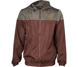 Zelda Windbreaker Jacket - Small, Brown