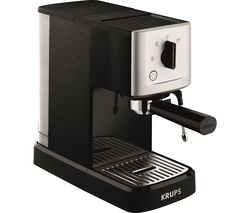 KRUPS Calvi Espresso XP344040 Coffee Machine – Black & Stainless Steel