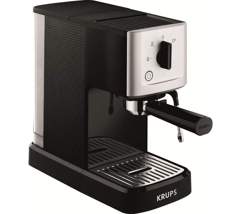 KRUPS Calvi Espresso XP344040 Coffee Machine – Black & Stainless Steel