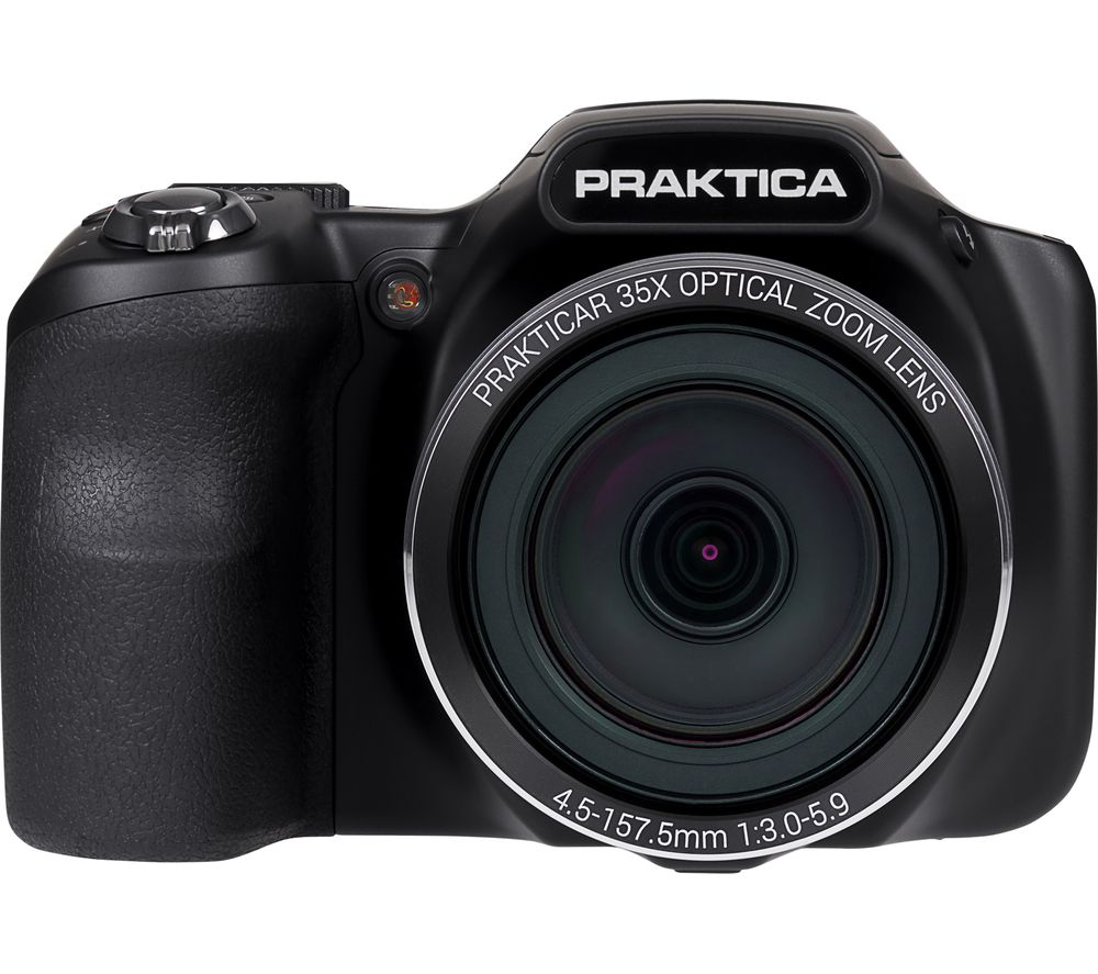 PRAKTICA Luxmedia Z35-BK Bridge Camera - Black, Black