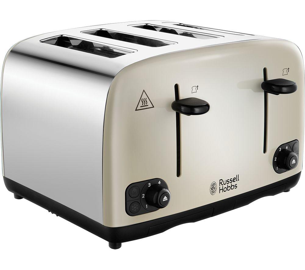 RUSSELL HOBBS Cavendish 24091 4-Slice Toaster - Cream