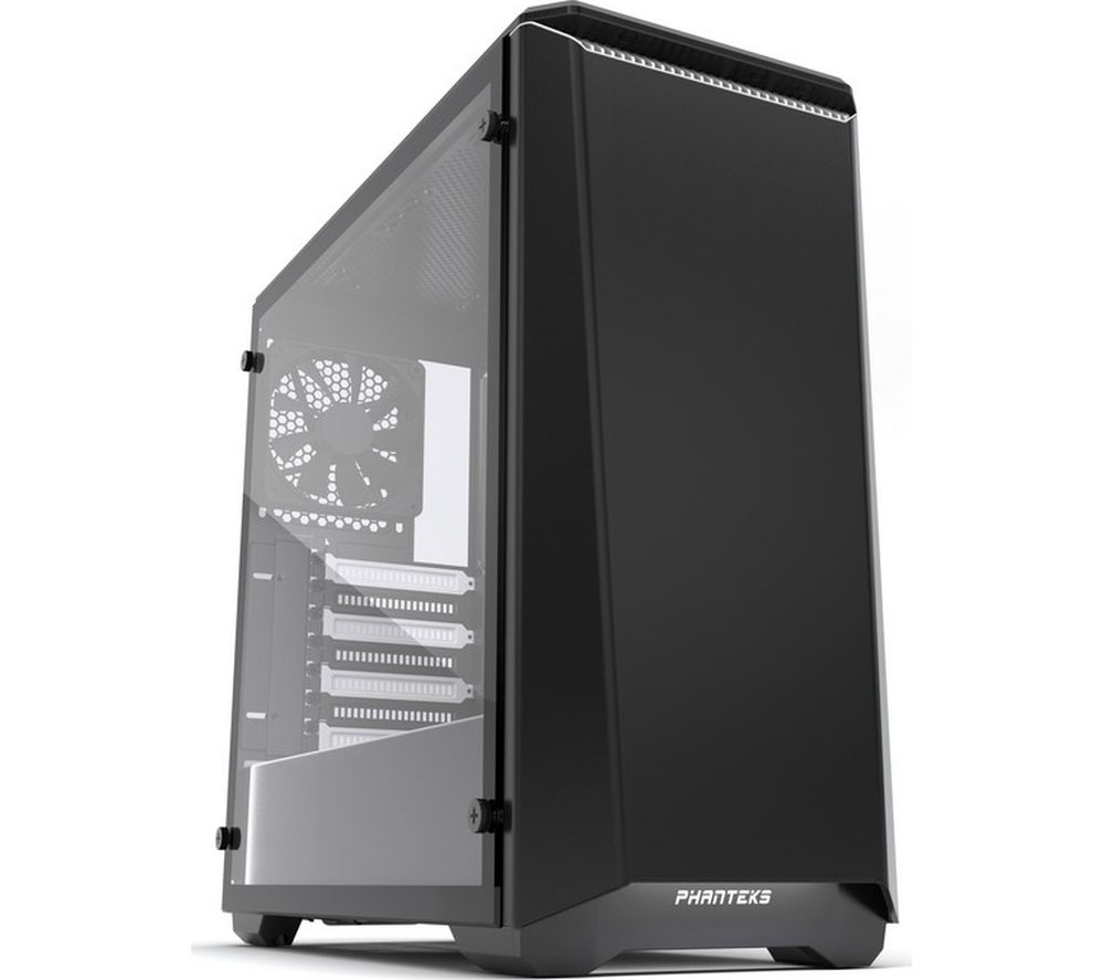 Image of PHANTEKS Eclipse P400S ATX Mid-Tower PC Case - Black & White, Black