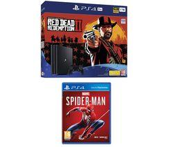 SONY PS4 Pro, Red Dead Redemption 2 & Spider-Man Bundle