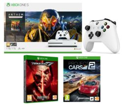 MICROSOFT Xbox One S with Anthem, Project Cars 2, Tekken 7 & Wireless Controller Bundle