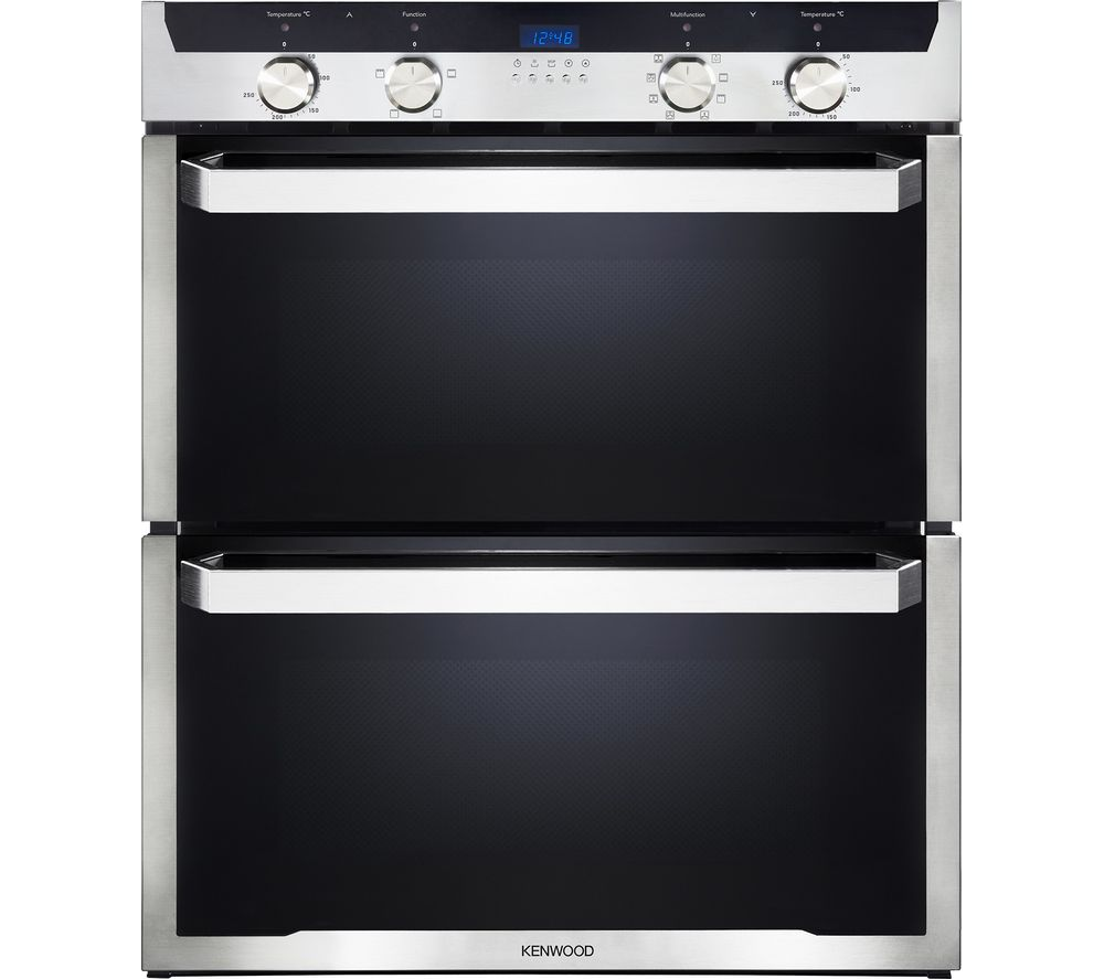KENWOOD KD1701SS-1 Electric Built-under Double Oven - Black & Stainless Steel, Black