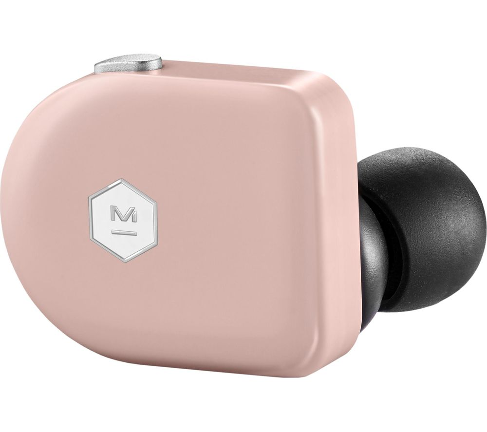 Image of MASTER DYNAMIC MW07 Wireless Bluetooth Earphones - Pink Coral, Pink