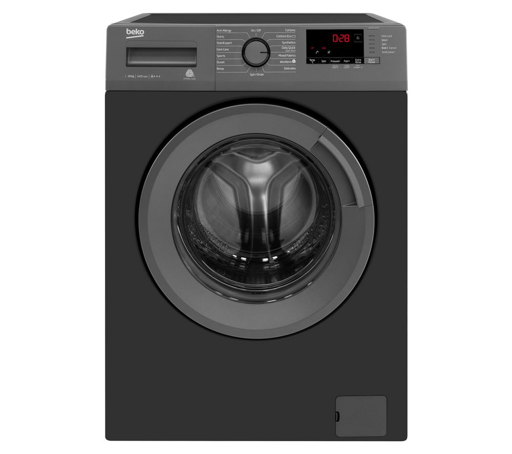 BEKO WTB1041R4A 10 kg 1400 Spin Washing Machine - Anthracite
