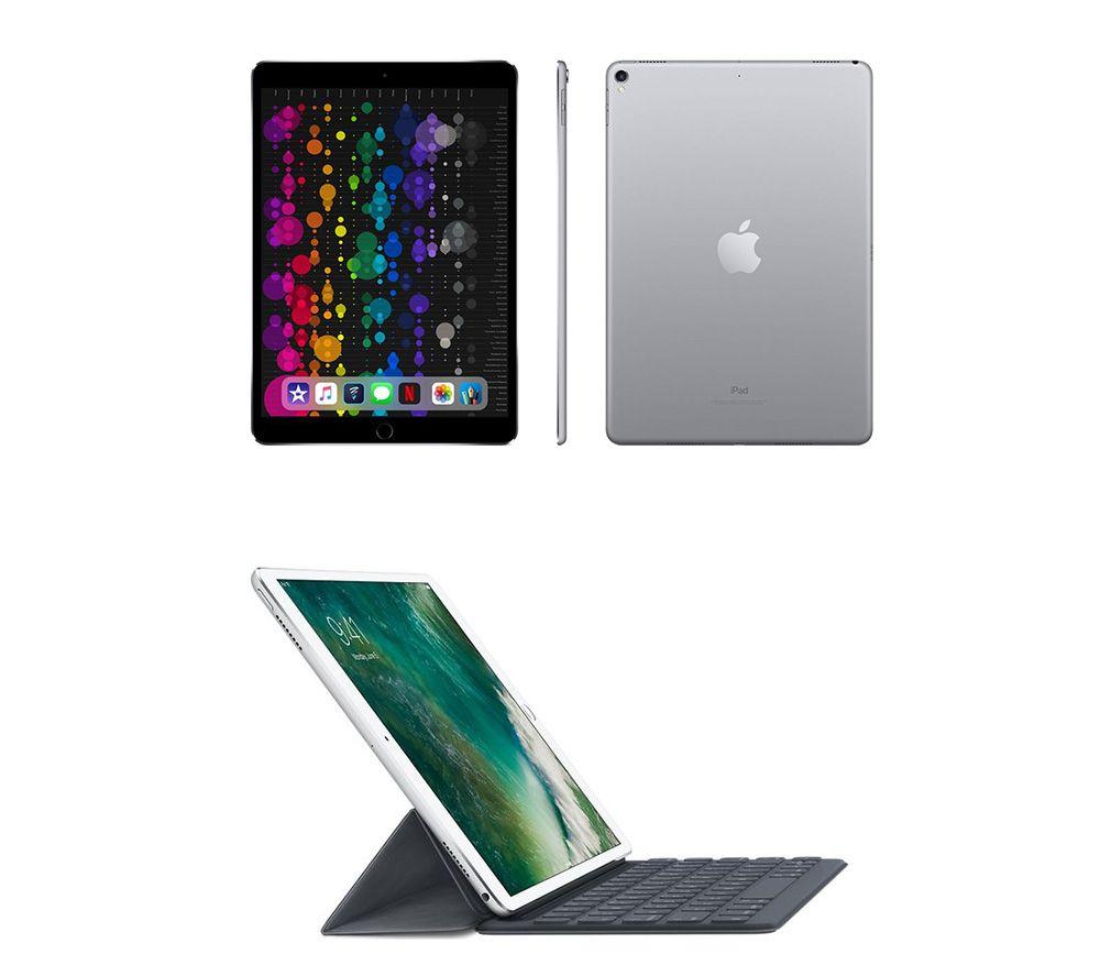 "Image of 10.5"" iPad Pro & 10.5"" iPad Smart Keyboard Folio Case Bundle - 512 GB, Space Grey, Grey"