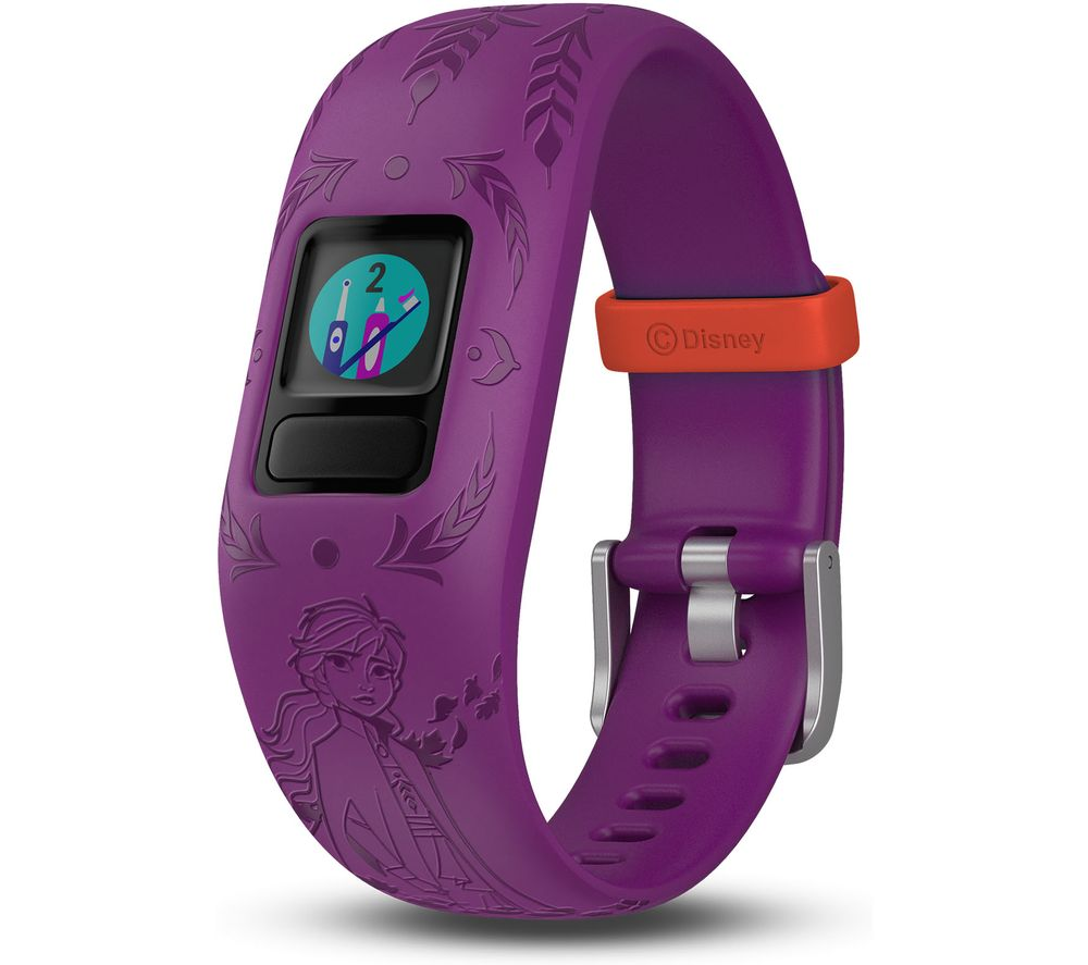 GARMIN vivofit jr. 2 Kid's Activity Tracker - Purple Disney Frozen 2 Anna, Adjustable Band