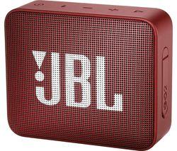 JBL Go 2 Portable Speaker - Ruby Red