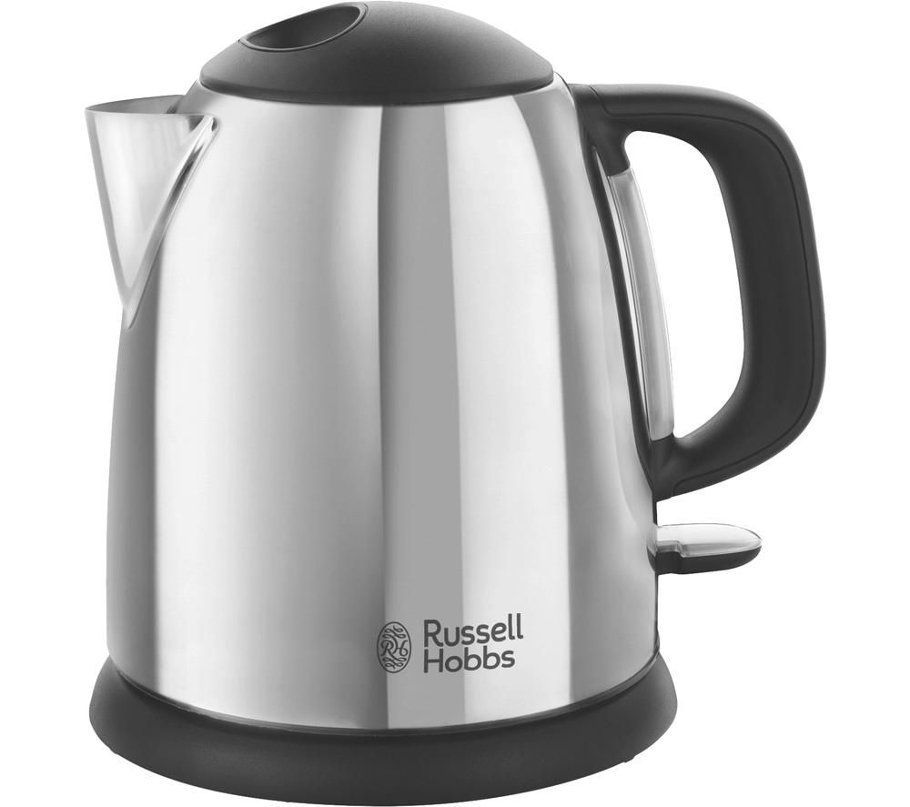 RUSSELL HOBBS Classic 24990 Compact Jug Kettle - Black & Silver