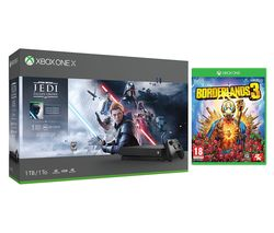 MICROSOFT Xbox One X, Star Wars Jedi: Fallen Order Deluxe Edition & Borderlands 3 Bundle