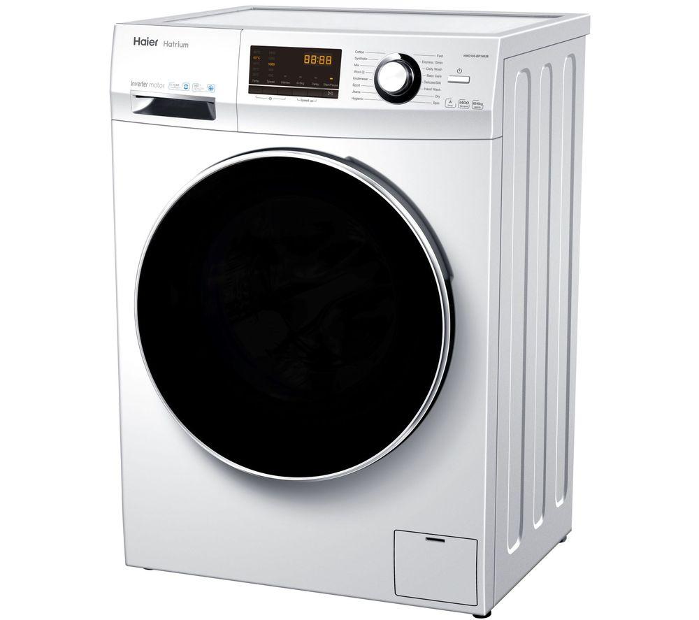 HAIER 636 Series HWD100-BP14636 10 kg Washer Dryer - White, White