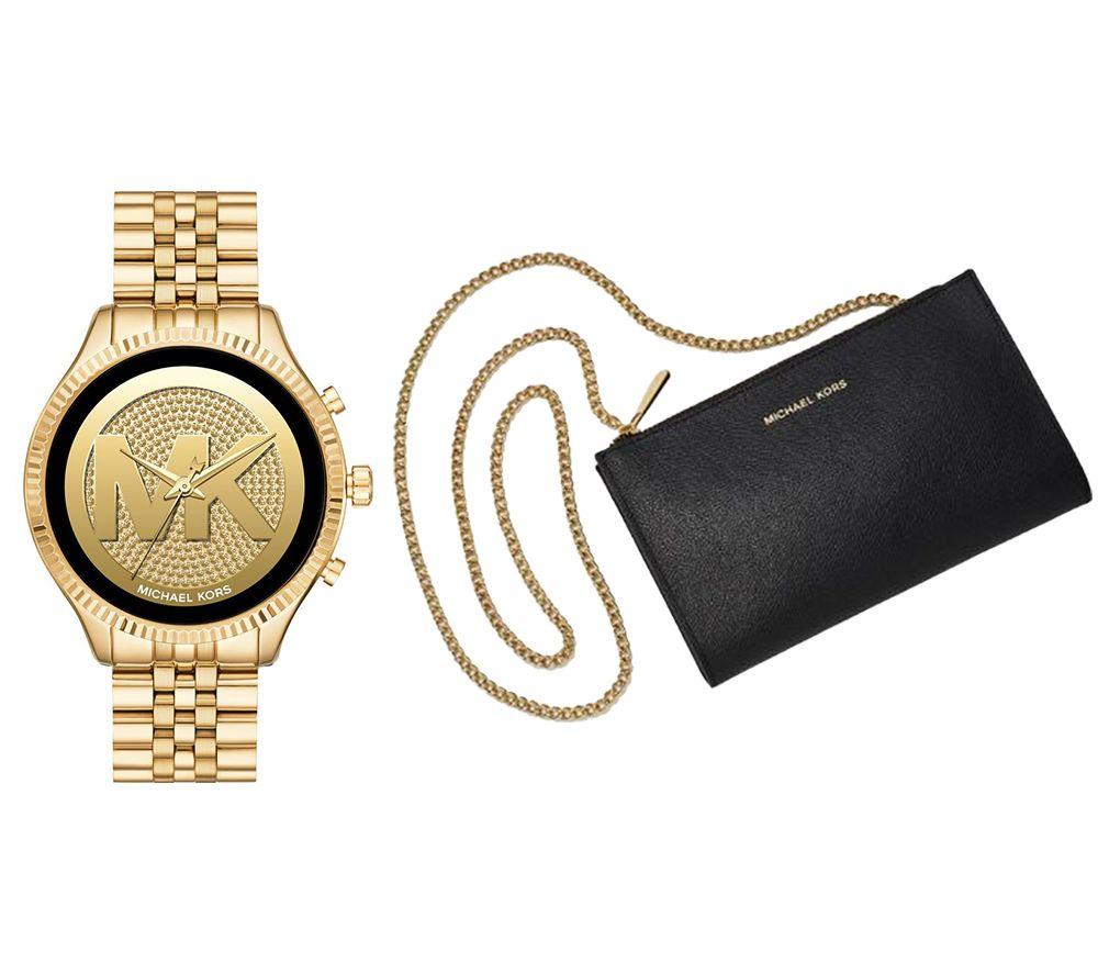 Image of MICHAEL KORS Access Lexington 2 MKT5078 Smartwatch & Mini Messenger Bag Bundle - Gold, Gold