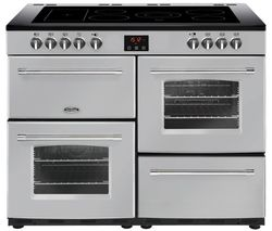 BELLING Farmhouse 110E Electric Ceramic Range Cooker - Silver Best Price, Cheapest Prices