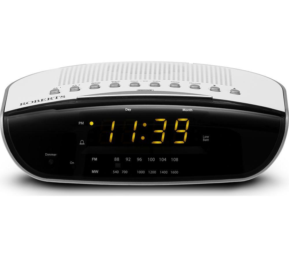 ROBERTS CR9971 Chronologic VI FM Clock Radio - White, White