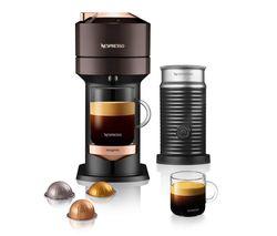 by Magimix Vertuo Next & Milk Coffee Machine - Brown