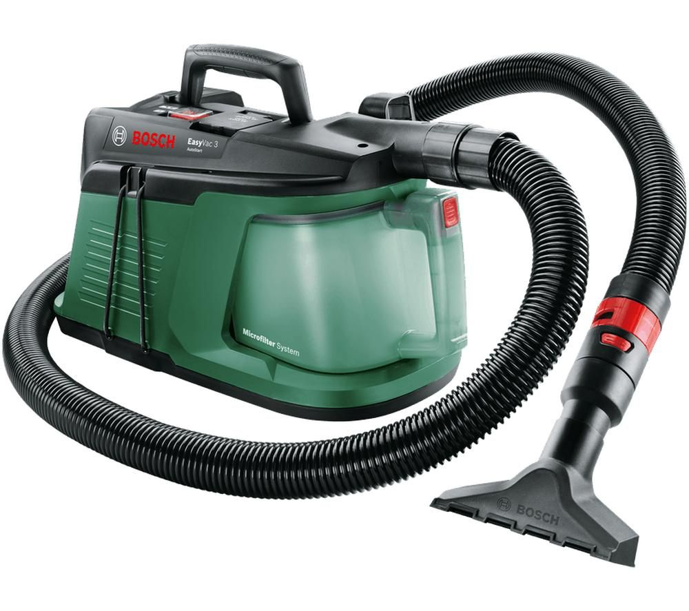 Image of BOSCH EasyVac 3 Handheld Vacuum Cleaner - Black & Green, Black