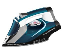 RUSSELL HOBBS One Temp 26020 Cordless Steam Iron - Blue & White Best Price, Cheapest Prices
