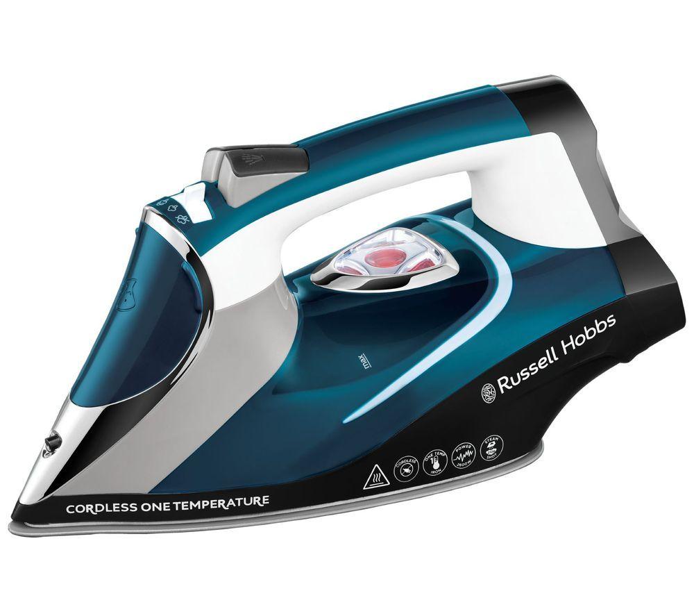 RUSSELL HOBBS One Temp 26020 Cordless Steam Iron - Blue & White