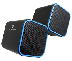 VB-702-BLUE Diamond Series 2 Stereo Speakers - Blue, Pack of 2