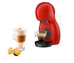 10210515: by DeLonghi Piccolo XS EDG210R Coffee Machine - Red