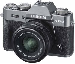 X-T30 Mirrorless Camera with FUJINON XC 15-45 mm f/3.5-5.6 OIS PZ Lens - Charcoal