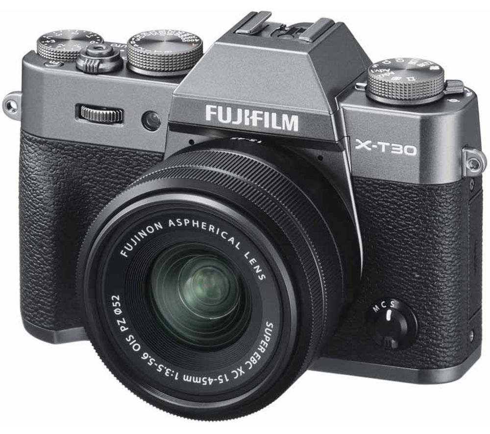 FUJIFILM X-T30 Mirrorless Camera with FUJINON XC 15-45 mm f/3.5-5.6 OIS PZ Lens - Charcoal