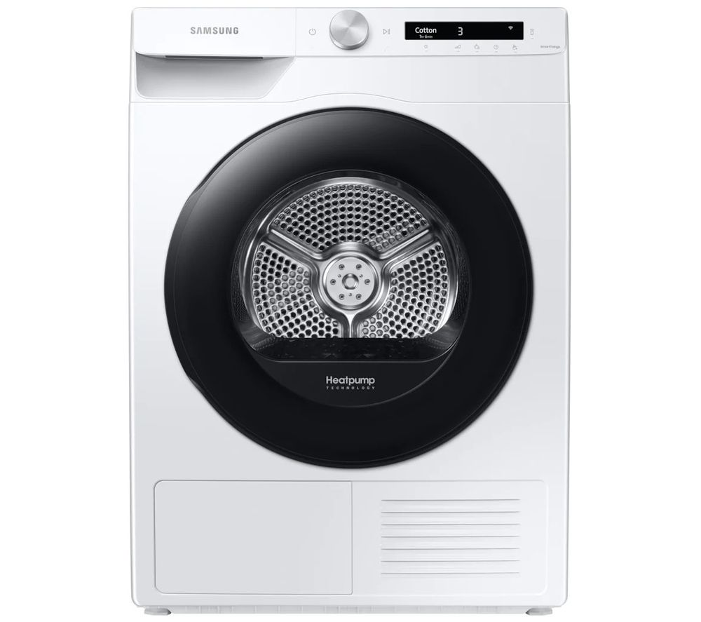 SAMSUNG DV90T5240AW/S1 WiFi-enabled 9 kg Heat Pump Tumble Dryer - White