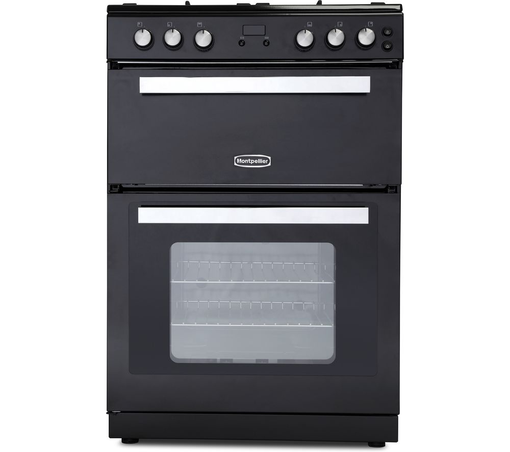 MONTPELLIER RMC61DFK 60 cm Dual Fuel Cooker - Black