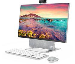 """Yoga AIO 7 27"""" All-in-One PC - AMD Ryzen 7, 1 TB HDD & 512 GB SSD, Silver"""