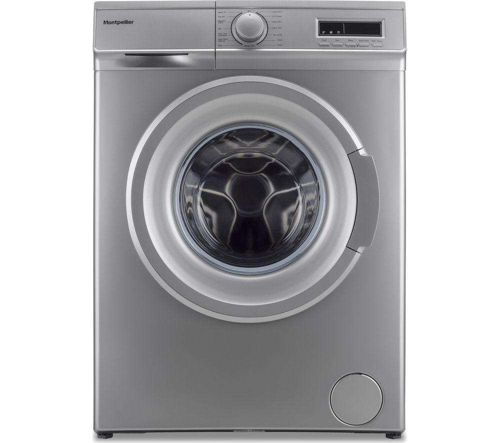 MONTPELLIER 7 kg 1400 Spin Washing Machine - Silver, Silver