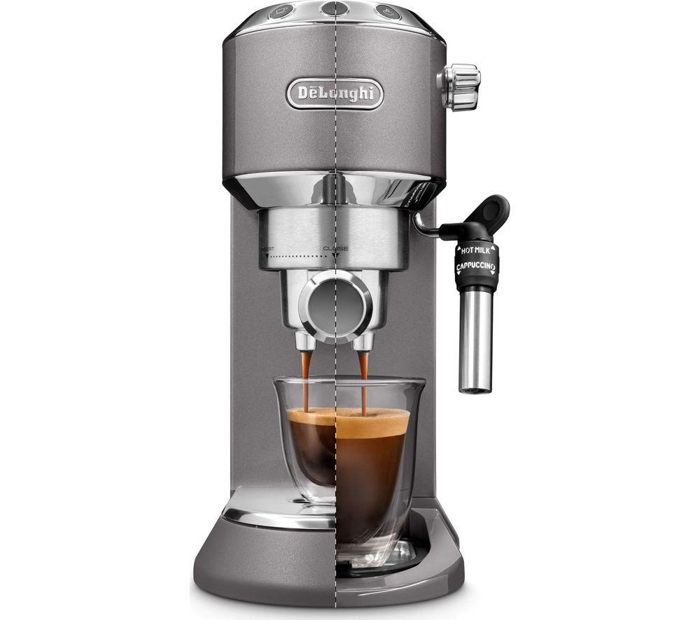 DELONGHI Dedica Metallic EC785M Coffee Machine - Grey, Grey