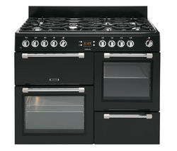 Cookmaster CK110F232K Dual Fuel Range Cooker - Black