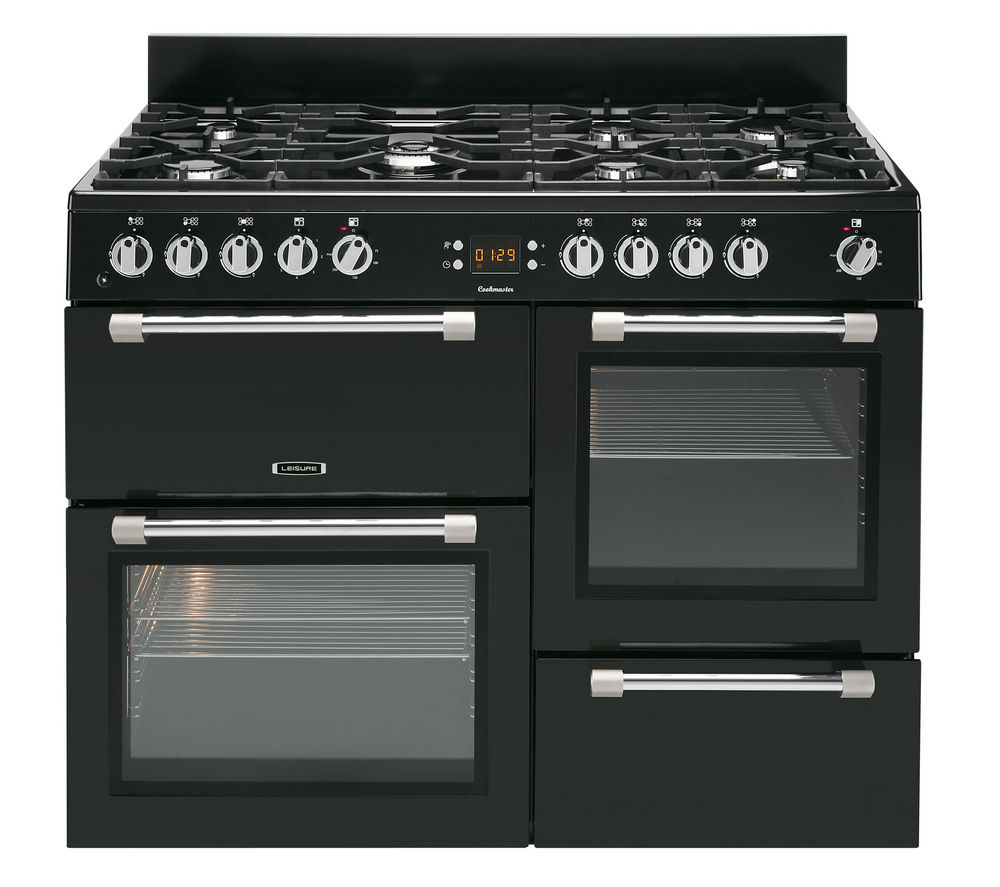 LEISURE Cookmaster CK110F232K Dual Fuel Range Cooker - Black