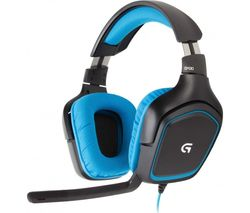 LOGITECH G430 7.1 Gaming Headset - Black & Blue