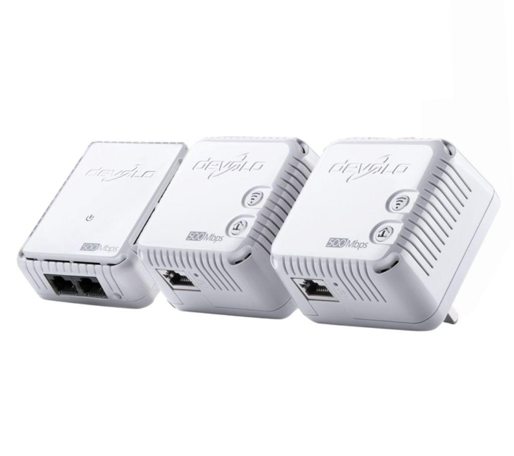 DEVOLO dLAN 500 Wireless Powerline Adapter Kit - Triple Pack