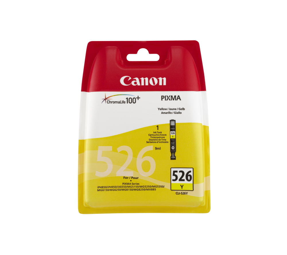 Cheapest price of Canon CLI-526Y Yellow Ink Cartridge in new is £3.49