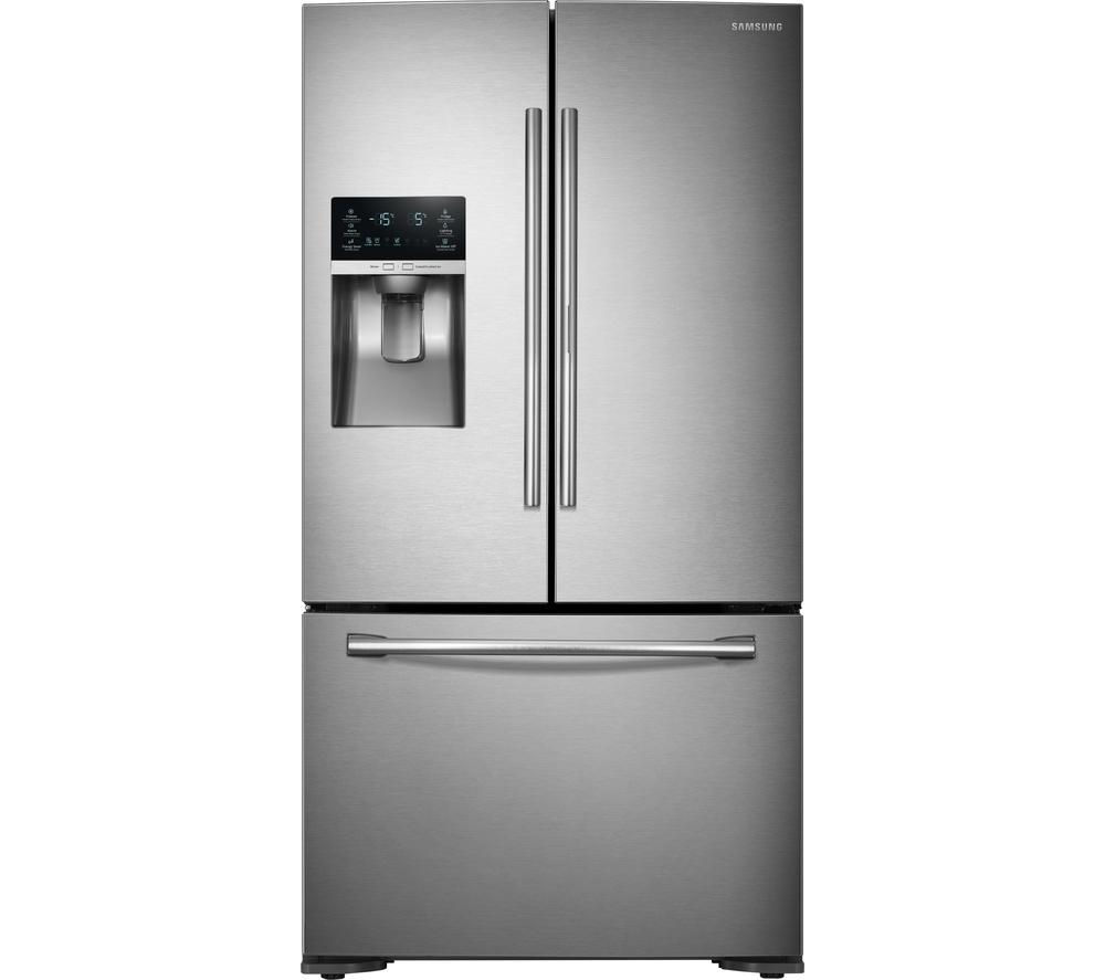 SAMSUNG Food ShowCase RF23HTEDBSR/EU 70/30 American-Style Fridge Freezer - Real Stainless