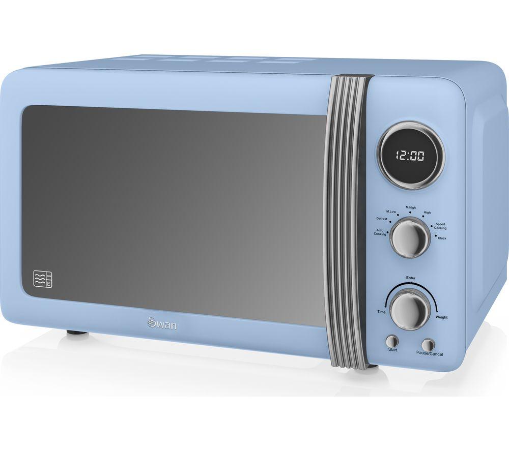 SWAN Retro Digital SM22030BLN Solo Microwave - Blue