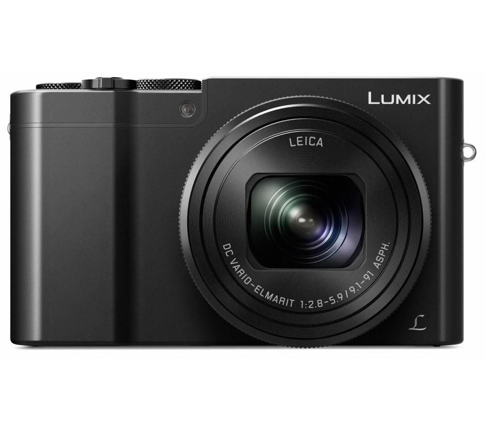 PANASONIC Lumix DMC-TZ100EB-K High Performance Compact Camera - Black + Hard Shell Camera Case - Black