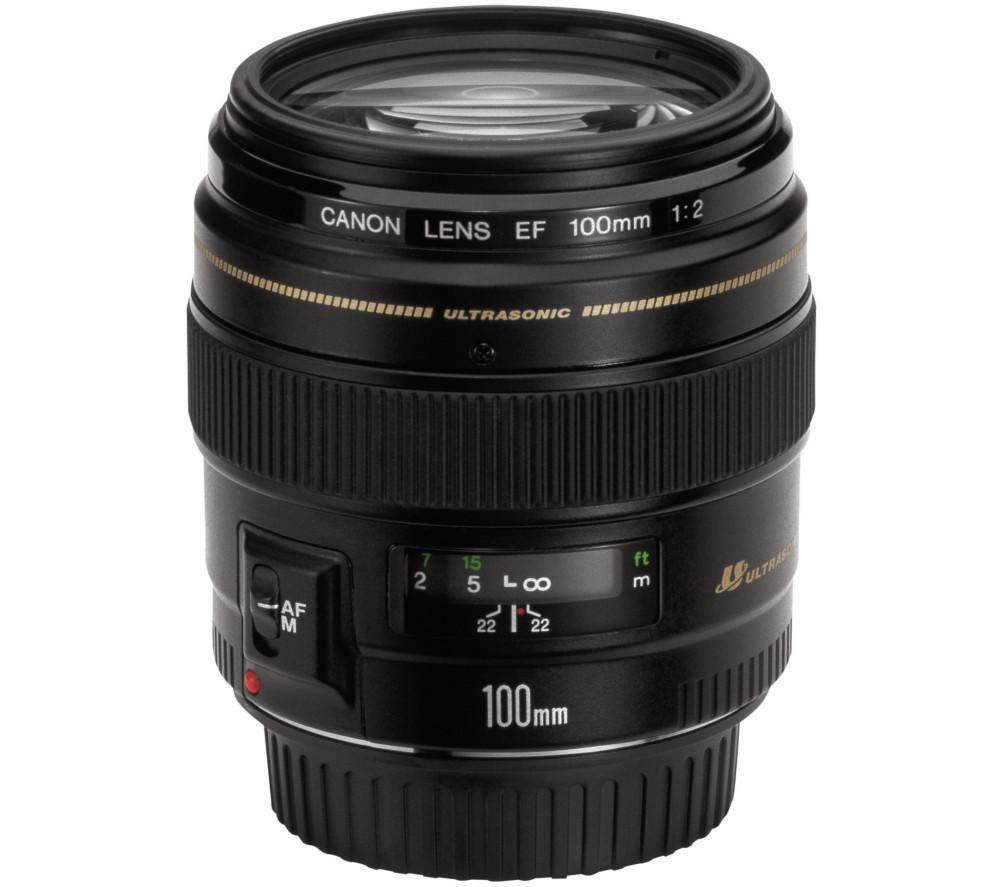 buy canon ef 100 mm f 2 0 usm standard lens free delivery currys. Black Bedroom Furniture Sets. Home Design Ideas