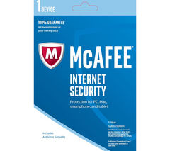 MCAFEE Internet Security 2017 - 1 year for 1 device (download)