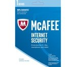 MCAFEE Internet Security 2017 - 1 user for 1 year