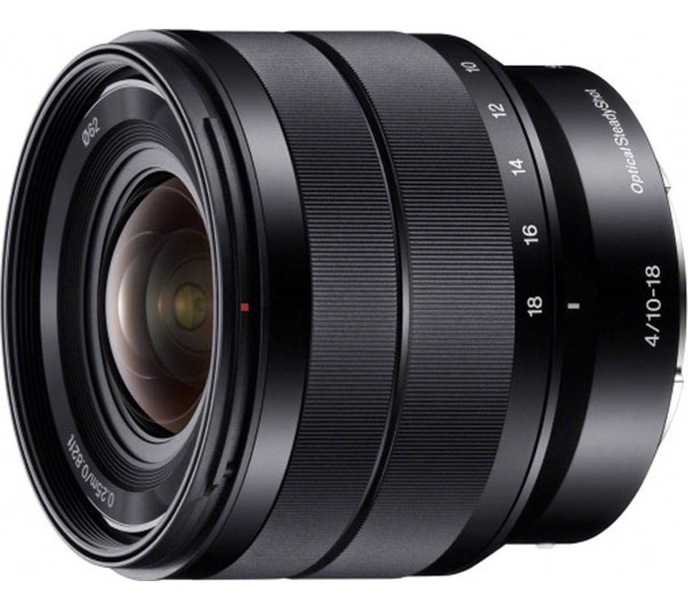 SONY E 10-18 mm f/4.0 OSS Wide-angle Zoom Lens